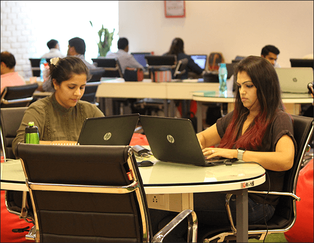 Women freelancers at The Office Pass in Gurgaon