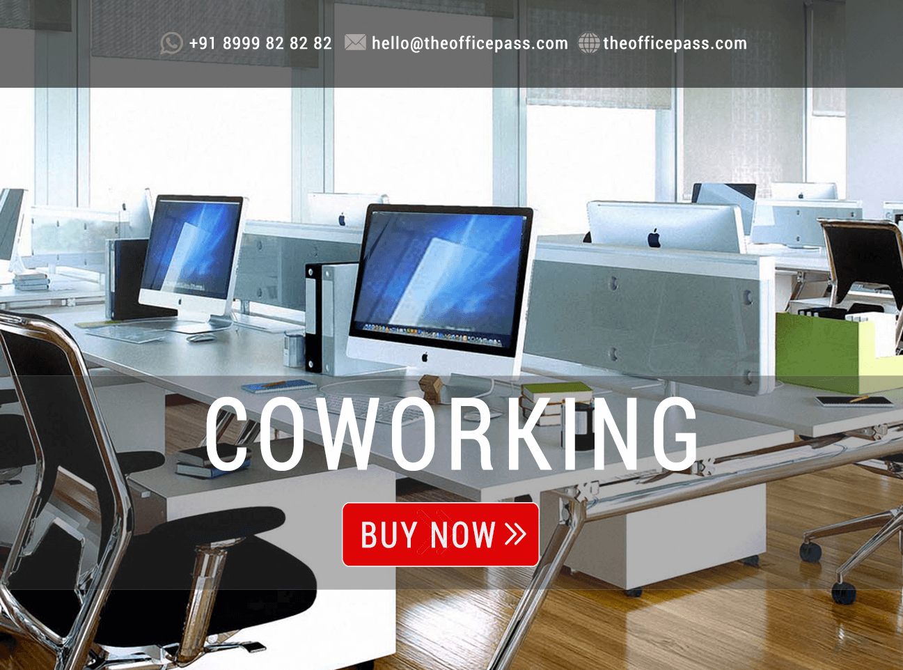 Book Coworking Office Space Online in under 3 minutes | The Office Pass